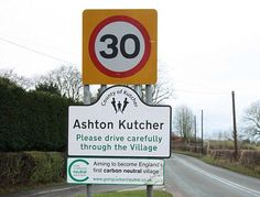 English village names changed in Two and a Half Men stunt Two And A Half, Half Man, Advertising Campaign, Marketing And Advertising, Ashton Kutcher, English Village, Name Change, Guerilla Marketing, Comedy Central