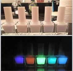 Check out our white collection of glow polishes!   www.parrotpolish.com