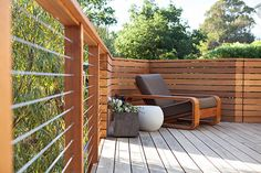 Nice deck, a mid-century / modern vibe