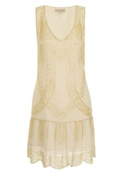 cream art deco flapper dress frock and frill — TENNIS WHITES PHRYNE FISHER STYLE !!!!