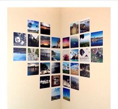 cute way to hang up pictures in your room