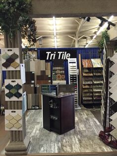 Wide variety of tiles to chose from for your floor, counters and backsplash. Tri Tile at the March 2016 Fresno Home & Garden Show