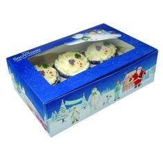 Snowman and Snowdog Cupcake Boxes - Christmas Cake Decorations (Pack of Wedding Cake Boxes, Blush Wedding Cakes, Box Cake, Wedding Cupcakes, Christmas Cake Decorations, Christmas Cupcakes, Cupcake Decorations, Individual Cupcake Boxes, Snowman And The Snowdog