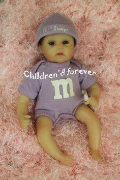 Ashton Drake Galleries Life Is Sweet M & M Baby Doll 7  Vinyl by Sherry Rawn