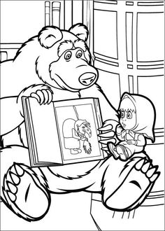 Masha And The Bear Coloring Pages 11