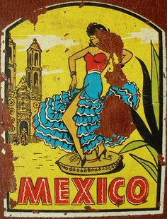 Mexico Decal | I found this old container with all these tra… | Flickr