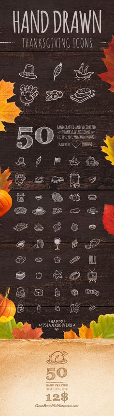 Thanksgiving Icons made by @weboutloud                                                                                                                                                                                 More