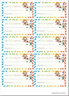 Coupon Book For Mom Printable  Google Search  MotherS Day