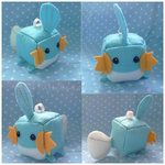 Mudkip Cube pokemon ~~diy craft sewing plush---I have a book for things like this...Fun 4 the summer and when I get bored