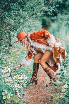 Tomboy Fashion, Tribal Fashion, 70s Fashion, Vintage Fashion, Fashion Styles, Vintage Style, Style Fashion, Gypsy Style, Hippie Style