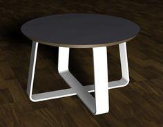 Blechmöbel Couchtisch CT03 weiß matt. Tischplatte MDF mit Melamin beschichtet. Demnächst lieferbar.