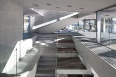The Gijang Waveon cafe's concrete structure is peppered in places with Swiss cheese-like holes, echoing eroded...
