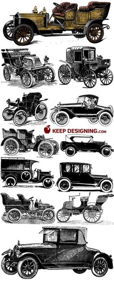 antique car printables: @Andrea / FICTILIS Moore - great for making art to hang in T's room