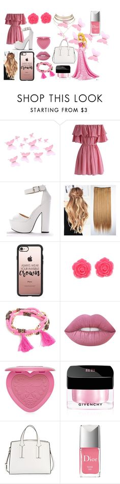 """""""Modern Princess Aurora"""" by livi-0987 ❤ liked on Polyvore featuring Disney, Chicwish, Casetify, New Directions, Lime Crime, Too Faced Cosmetics, Givenchy, French Connection, Charlotte Russe and modern"""