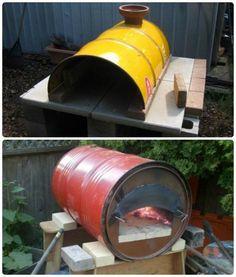 oil drum pizza / stone bkae ovens