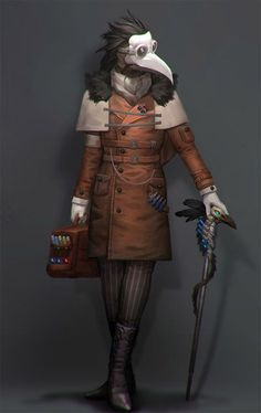 i just love this character, ordered and concept by a nice commissioner the outfit just elegant and preppy with a black plague mask, something that Alan . Fantasy Character Design, Character Design Inspiration, Character Concept, Character Art, Black Plague Mask, Plague Doctor Mask, Plague Dr, Dnd Characters, Fantasy Characters