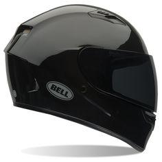 Bell Racing Qualifier Solid Gloss Black Adult Helmet S Clear Shield Black Motorcycle Helmet, Custom Motorcycle Helmets, Black Helmet, Bike Helmets, Used Motorcycles For Sale, Bell Helmet, Full Face Helmets, Motorcycle Parts And Accessories, Street Bikes