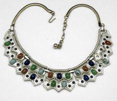 Under $50! Beautiful designer Vintage Designer Byzantine Cabochon Choker Necklace Byzantine. Must see photos to appreciate!
