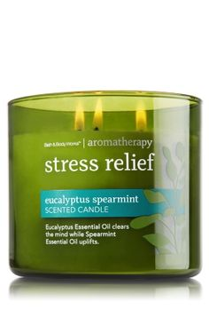 Eucalyptus Spearmint 14.5 oz. 3-Wick Candle - Aromatherapy - Bath & Body Works - This is my husband Zack's favorite scent