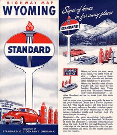 Oil Company Logos, Station Map, Highway Map, Wanted Ads, Mercury Cars, Standard Oil, Free Maps, Old Gas Stations, Golden Days
