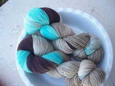 We are Siamese if You Please   -- Twinkle Toes -- Hand Painted Superwash Merino Wool Sock Yarn. $21.00, via Etsy.