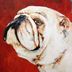 Constance Bachmann  - White English Bulldog. Quite regal looking!