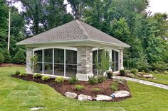 landscaping timber owl | Backyard Pavilion - contemporary - patio - st louis - by Mosby ...