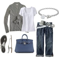 Silver and Blue / J.Crew, Birkin Bag