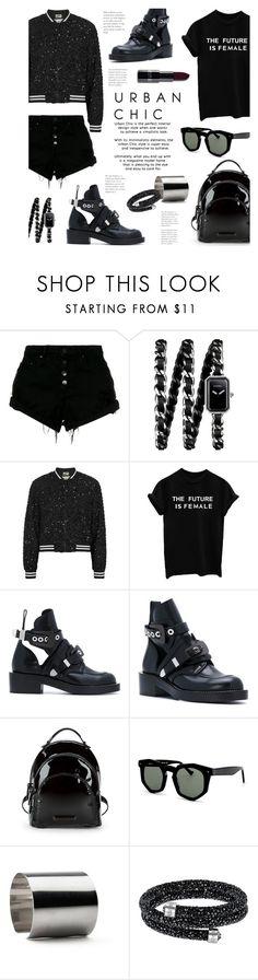 """The Future"" by lisalockhart ❤ liked on Polyvore featuring Nobody Denim, Chanel, Alice + Olivia, Balenciaga, Kendall + Kylie, Grey Ant, Maria Dorai Raj and allblackoutfit"