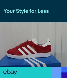 on sale 89862 3f958 MENS ADIDAS GAZELLE VINTAGE RED TRAINERS S76228