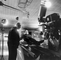 Gert Fröbe and Sean Connery on the set of Goldfinger (1964), directed by Guy Hamilton.