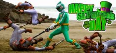 Happy St. Patrick's Day! How will you be spending it? Bonus question: who's your #1 Green Ranger? #PowerRangers
