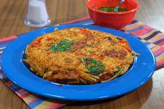 Tortilla de fideos bien sabrosa por Felicitas Pizarro: http://elgour.me/1Rz9Y4C #elgourmet #TuCanalDeCocina #Recetas