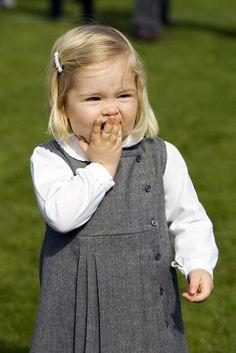 Princess Amalia as a toddler.