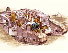 BBC - History - World Wars: Weapons of War: Mark 1 Tank - animation.