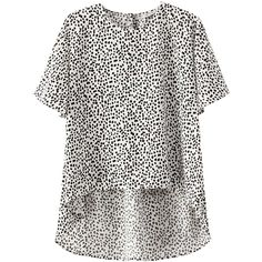 Now 55% off, $20 - Shop this and similar blouses - Gray Ladies Leopard High Low Round Neck Blouses