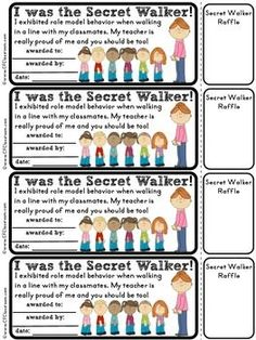 Free: Secret Walker Certificates for Managing A Line of Students