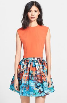 Alice + Olivia 'Kylnn' Crop Top and Stora Neoprene Skirt available at #Nordstrom