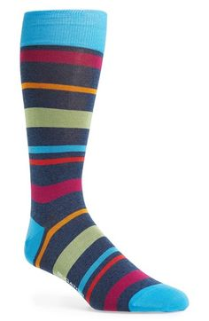 Elegant & amazing socks from #Italy - Bugatchi Big Stripe Socks