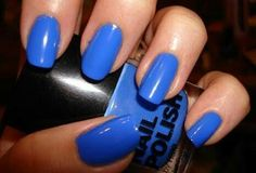 Striking Blue Nails