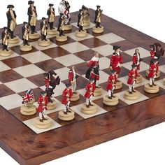 American Revolutionary War of Independence Chessmen  Agostino Luxury Chess Board from Italy King 3 18 -- Check out the image by visiting the link.