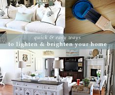 series on how to brighten your home--before's and after's.