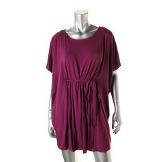 Betsey Johnson Womens Belted Dolman-Sleeves Casual Dress
