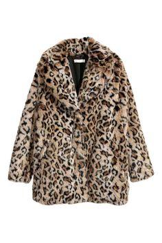 Giacca in pelliccia sintetica - Leopardato - DONNA | H&M IT