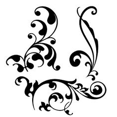 Printable Free SVG Files - love this flourish. You can cut SVG files on a Silhouette if you save them as a DXF file in Inkscape. I'm going to have to try this out! Silhouette Files, Silhouette Design, Stencils, Inkscape Tutorials, Silhouette Portrait, Silhouette Cameo Projects, Digi Stamps, Svg Cuts, Swirls