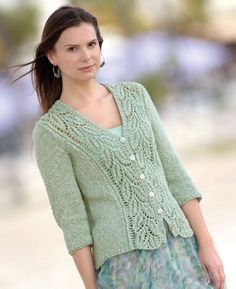 New Crochet Free Pattern Sweater Lace Cardigan Ideas Knit Cardigan Pattern, Crochet Jacket, Lace Cardigan, Sweater Knitting Patterns, Lace Knitting, Knitting Designs, Knit Patterns, Knit Crochet, Free Knitting Patterns For Women