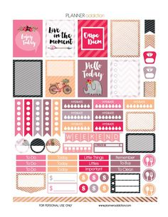 FREE Carpe Diem Printable Planner Stickers by Planner Addiction