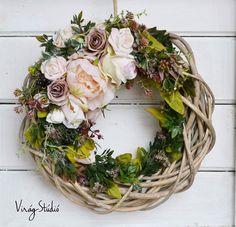 Wreaths And Garlands, Door Wreaths, Easter Wreaths, Fall Wreaths, Diy Wreath, Grapevine Wreath, Corona Floral, Crochet Wreath, Summer Wreath