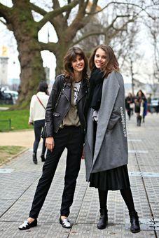 Antonina Petkovic and Pauline Hoarau, Paris, March 2015