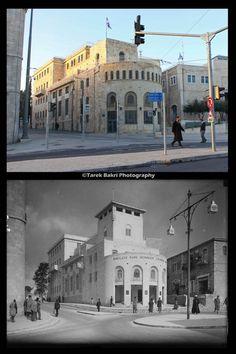 Jerusalem-القدس الشريف: نك باركليز البريطاني (راعي الدوري الانجليزي حالياً) وفرعه بالقدس عام 1932 المبنى الان تابع لبلدية الاحتلال في القدس- اعداد طارق بكري